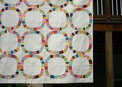 Single Girl Quilt - hanging a (twinfibers) Tags: modern quilt fabric freespirit denyseschmidt singlegirl fleamarketfancy twinfibers
