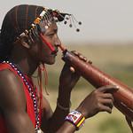 Maasai drinking cow blood - Kenya