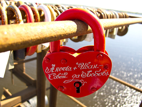 Love locks over the Volga