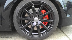 "Audi TT Quattro alloy wheel in mirror black with gloss red calipers by We Fix Alloys • <a style=""font-size:0.8em;"" href=""http://www.flickr.com/photos/75836697@N06/13041145095/"" target=""_blank"">View on Flickr</a>"