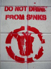 DO NOT DRINK FROM SINKS (railbalancing) Tags: from do drink sinks