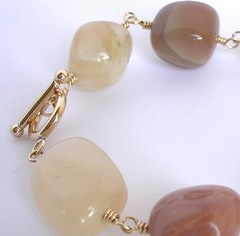 peach and tawny coloured moonstone