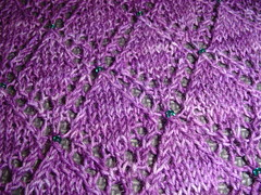 Dragon Scale Shawl beading close up