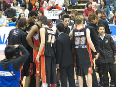 Osaka Evessa Huddle - Kadoma, Osaka, Japan (glazaro) Tags: city basketball japan japanese asia stadium arena dome  osaka sendai kansai kadoma namihaya bjleague evessa 89ers