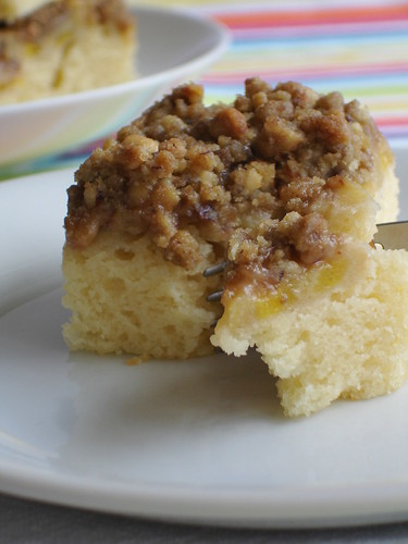 Banana and hazelnut coffee cake