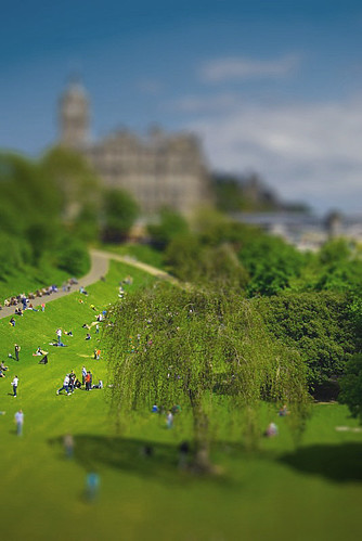 Princes street gdns-tiltshift by trevwed1.