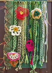 lianes (FibreFantaisie) Tags: decorative bobbinlace knotting kumihimo freeformcrochet