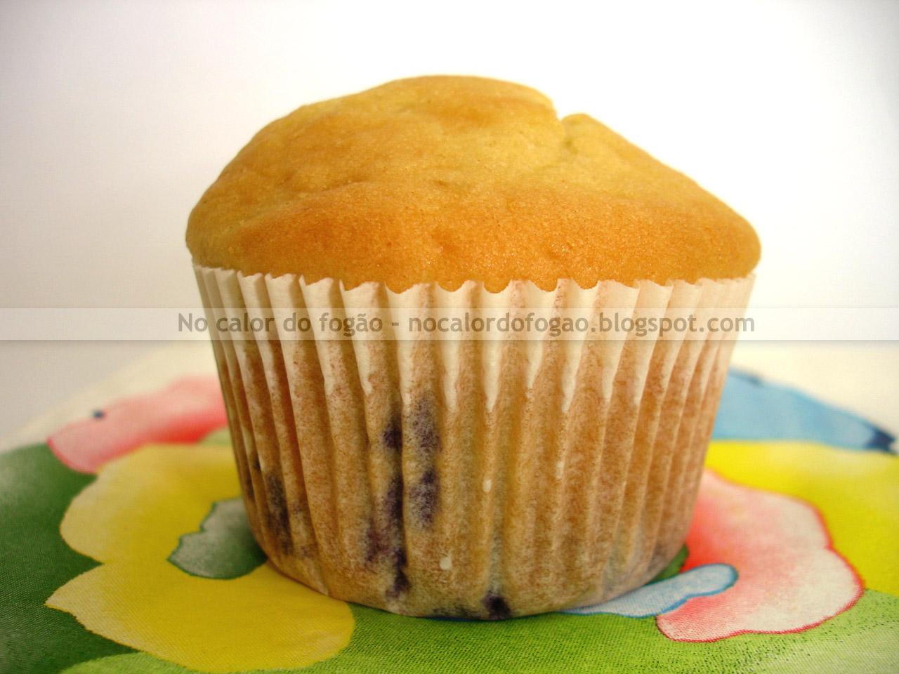 Muffins de morango e mirtilo