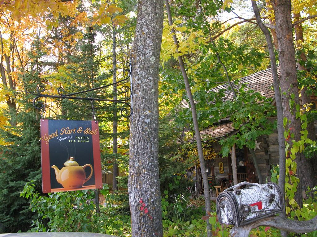 Tea Room in the woods     Good Hart, Michigan
