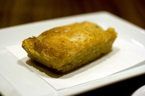White cheddar cornbread