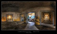 Lwenkaserne Berlin (d.r.i.p.) Tags: panorama berlin abandoned architecture germany deutschland airport nikon decay widescreen drip urbanexploration architektur 24mm hdr decayed hdri kaserne urbex 2470mm photomatix d80 hdrpanorama vertorama 2470mmf28g