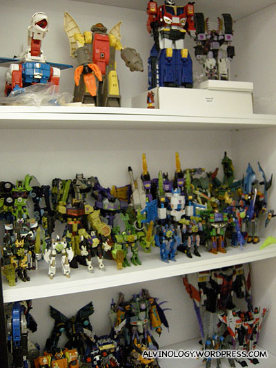 Marks Transformer toy collection - just moved in from his old house