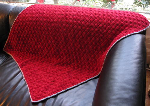 Ruby baby blanket