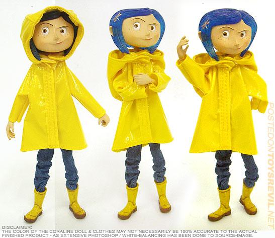 2017 NECA Coraline Raincoat Bendy Doll