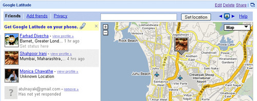 Viewing Your Friends' Location on Google Latitude