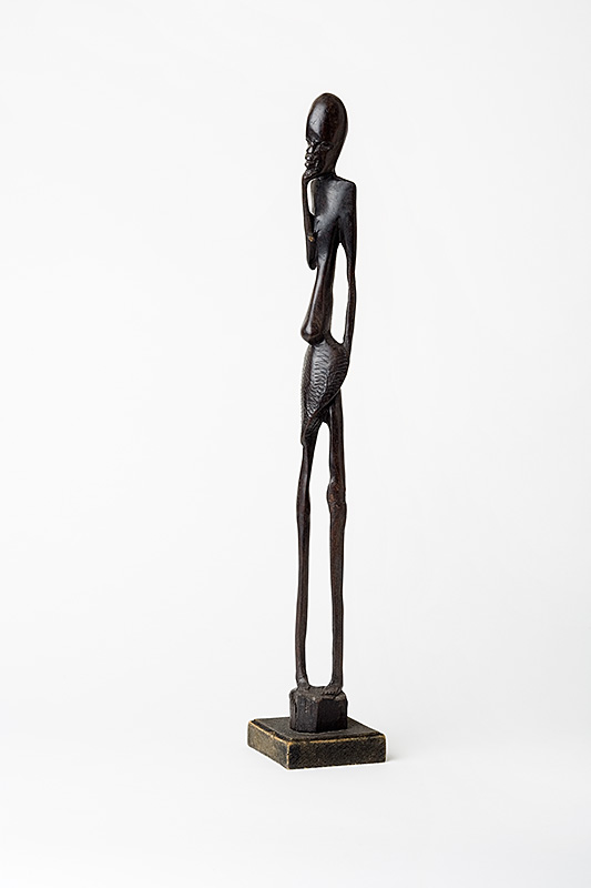 African Sculpture Tall Man Ironwood Giacometti
