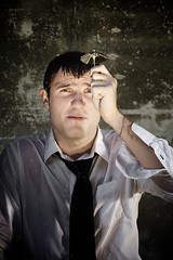 Economic Forecast (Nick Nieto) Tags: rain businessman economics finance fineartphotos overtheexcellence nicknieto
