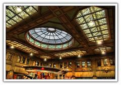 Edinburgh Train Station (Lars Kehrel) Tags: windows window glass station k train hall edinburgh pentax d fenster main bahnhof lars hauptbahnhof 200 cupola halle glas hdr hdri kuppel 200d k200 k200d kehrel