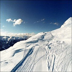 Ski slope awaiting..:) (Katarina 2353) Tags: blue winter sky cloud white snow ski mountains film field clouds landscape photography schweiz switzerland nikon europe flickr paradise suisse image snowy swiss paisaje cielo nubes snowboard zermatt svizzera paysage priroda skiers tjkp mywinners pejza katarinastefanovic katarina2353 gettylicence