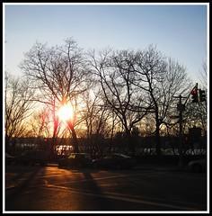 Riverside Drive sunset (AlisonLOL) Tags: nyc newyorkcity sunset sun ny newyork manhattan newyorker upperwestside westside riversidepark uws