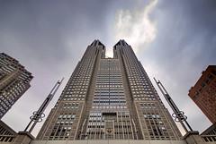 Shinjuku Government Building (Clint Koehler) Tags: japan skyscraper tokyo nikon shinjuku dri hdr governmentbuilding photomatix sigma1020 d80 nikond80