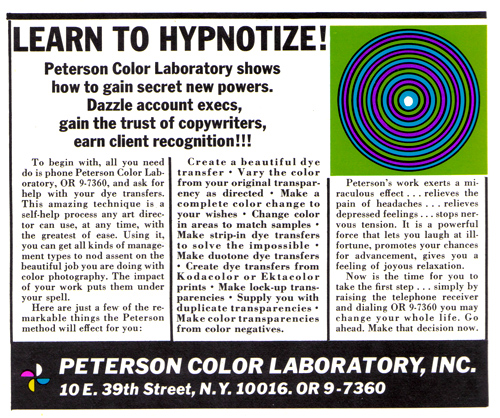 Vintage Ad #737: Learn to Hypnotize Your Clients!