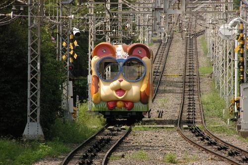 Kintetsu ko11series in Toriimae,Ikoma,Nara,Japan 2008/08/09