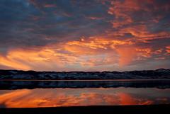 Sunset over Bear Lake (tamalee) Tags: sunset orange lake reflection water