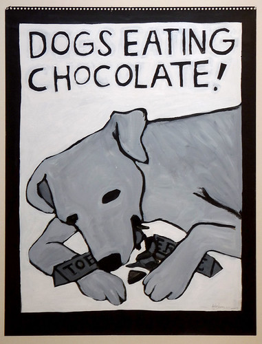 dogs eating chocolate!