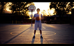 Ball In (isayx3) Tags: school sun basketball ball court 50mm nikon glare f14 f18 18 d3 50mmf14d