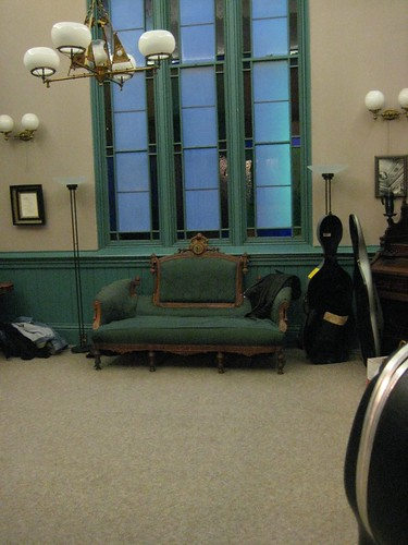 Cello Cases and Fancy Couch
