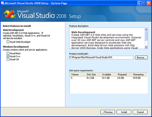 Visual Studio 2008 Installer