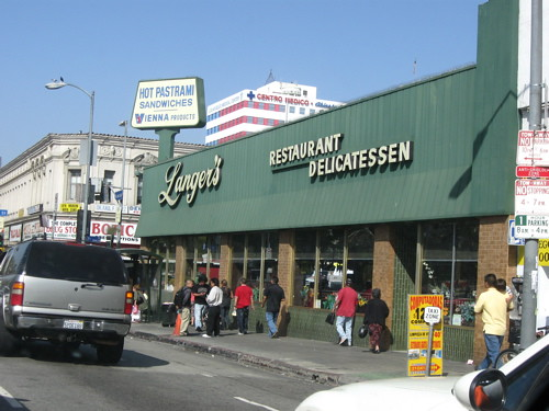 Sam says Langers has better pastrami than Katzs. That may be true, but can it top the Downtown Deli, around the corner from the AN offices and the best in town?