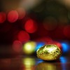 chocolate egg-a-holic:  96/365 (helen sotiriadis) Tags: wood blue red food reflection yellow canon square gold published dof bokeh chocolate egg depthoffield 365 canonef50mmf14usm canoneos40d bokehwhores toomanytribbles dslrmag