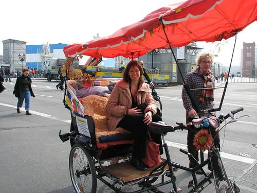Rickshaw sightseeing in Berlin