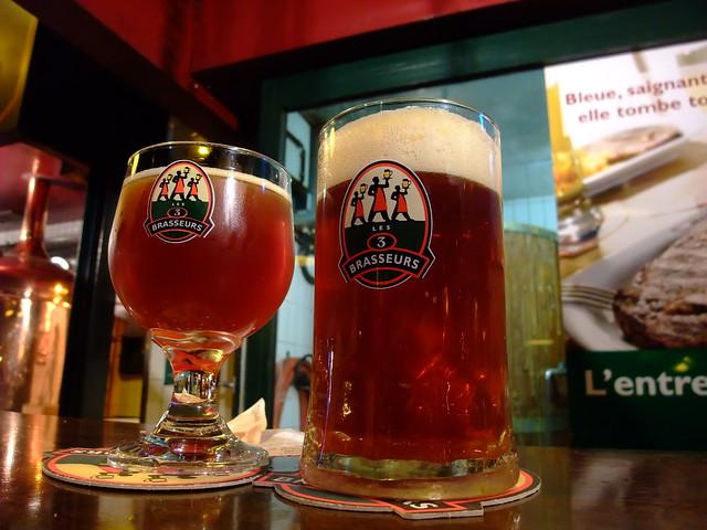 """""""les 3 brasseurs"""" beer sparks street"""
