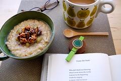 from the start (sevenworlds16) Tags: coffee breakfast reading wooden maple poetry walnuts spoon oatmeal bananas mug toasted wsmerwin orlakiely happyreadinglife bythewonderful
