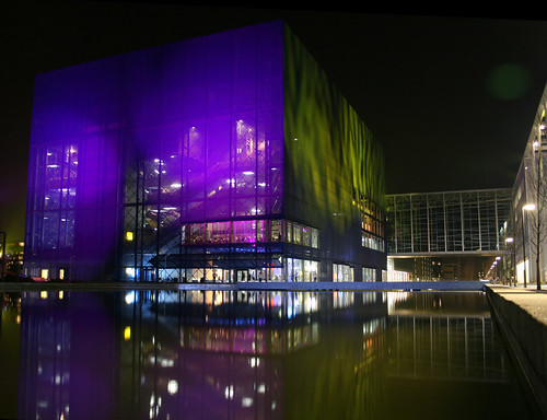 Concert Hall at night by hansn.