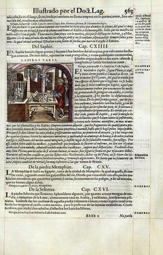 019- El zafiro-Pedacio Dioscorides Anazarbeo 1555