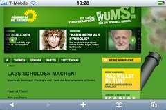 Screenshot gruene.de auf dem iPhone