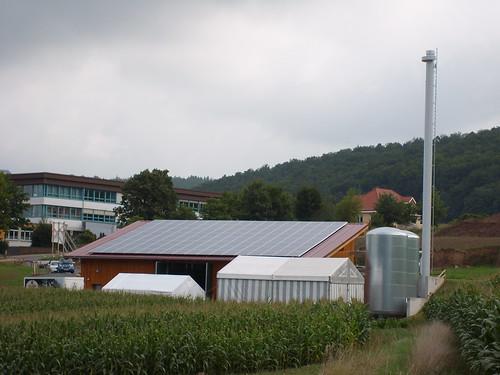 Photovoltaikanlage auf dem Heizkraftwerk in Rai Breitenbach
