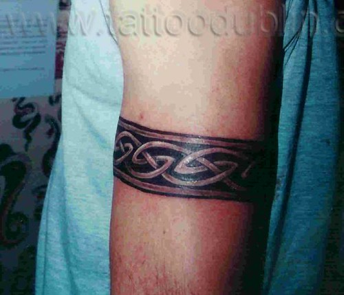 celtic armband tattoo by dublin ireland tattoo artist 'Pluto' while