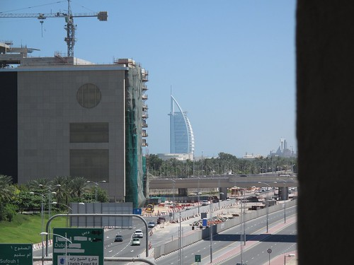 Hotell appartement view in Dubai