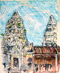 An Angkor Wat Door