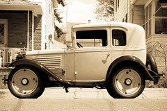 1930 American Austin (johnwilliamsphd) Tags: county blackandwhite copyright newyork classic car austin john williams antique c upstate transportation coupe broome binghamton 1930 southerntier americanaustin  project365 williams john broomecounty autoglamma johncwilliams weeklythemes project365weeklythemes johnwilliamsphd phd