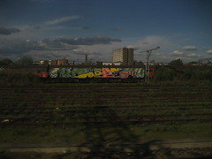 Dorps (Tatty Seaside Town) Tags: london graffiti graf freight wholecar dorps april2009 tattyseasidetown