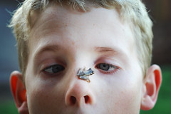 Cross-eyed (Kerrie McSnap) Tags: family boy kids children nikon child frog d60 easter2009