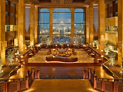 The Lobby at the Grand Hyatt Hotel