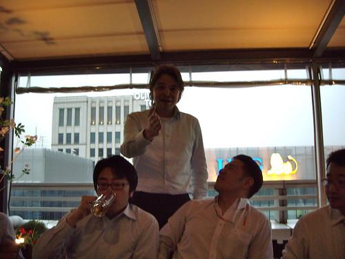 ING Goodbye party. Hoonho, Frank Jan, Jaewoo, Tae Ho