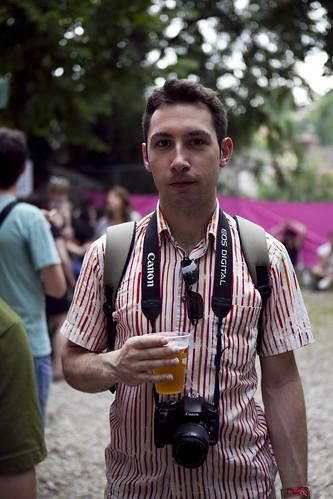 Pause bière @ Pétanque Electro 2